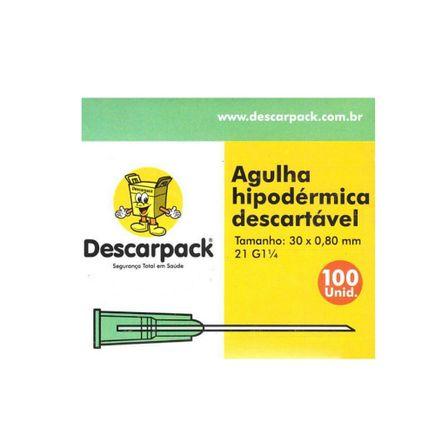 Agulha-Hipodermica-Descartavel---Descarpack---Tamanho-30-x-080-mm