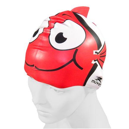 touca-para-natacao-em-silicone-kid-nemo-vermelho