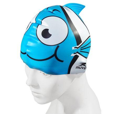 touca-para-natacao-em-silicone-kid-nemo-azul