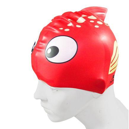 touca-para-natacao-em-silicone-kid-peixe-vermelho