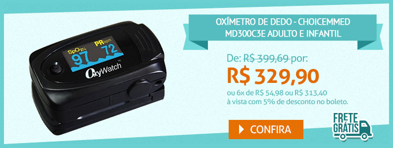 Oximetro de dedo - Chice Medical MD300c3e - Adulto e infantil