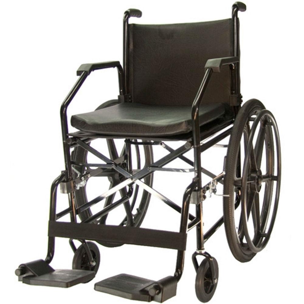 1660e306f Cadeira de Rodas em Aço - Ortopedia Jaguaribe - 1017 Plus - Preta - Pneu  Inflável - CenterMedical